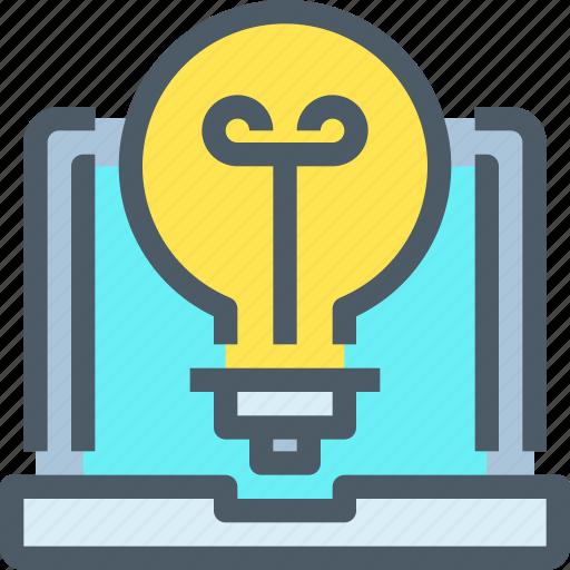 art, computer, creative, idea, light, think, thinking icon