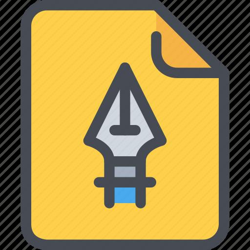 creative, creativity, document, file, graphic, pen icon