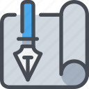 creative, creativity, pen, plan, planning icon