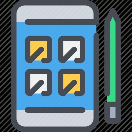 app, creativity, development, mobile, pen, smartphone icon