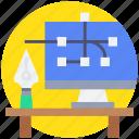 art, computer, design, digital, graphic, tool icon