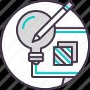 art, creative, design, graphic, idea, tool icon