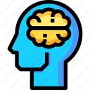 artificial, education, intelligence, knowledge, study icon