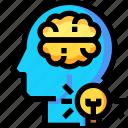 bulb, creative, creativity, idea, light, think icon