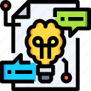bulb, business, creative, creativity, idea, light, think icon