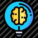 bulb, business, creative, creativity, idea, light icon