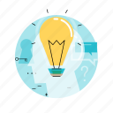 brainstorming, business, creativity, education, idea, knowledge, light bulb icon