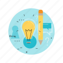 blog, brainstorming, comment, creativity, feedback, idea, writing icon