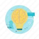 brainstorming, business, education, idea, innovation, knowlege, light bulb icon