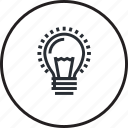 concept, creative, idea, innovation, light bulb, line icon