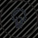 concept, idea, creative, innovation, line, light bulb