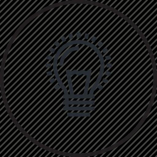 concept, creative, idea, innovation, light bulb, line icon