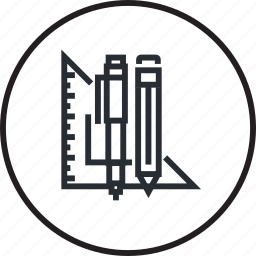 concept, creative, design, line, project, tool icon
