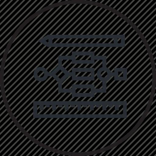 concept, creative, flowchart, line, management, organization, project icon