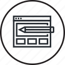 concept, creative, design, development, layout, website, wireframe icon