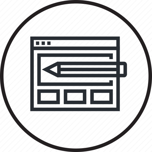 concept, creative, design, development, layout, website, wireframe icon