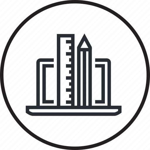 concept, creative, development, line, management, project icon