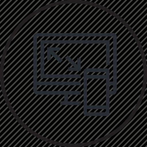 concept, creative, design, development, line, responsive, website icon
