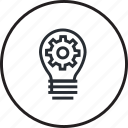 concept, creative, creativity, idea, light bulb, line, trend icon