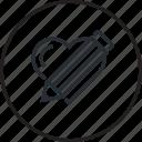 concept, creative, heart, line, portfolio icon