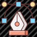 anchor, anchor point, pen, pen tool, point, vector icon