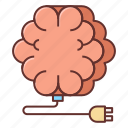 brain, brain recharge, charger, recharge icon