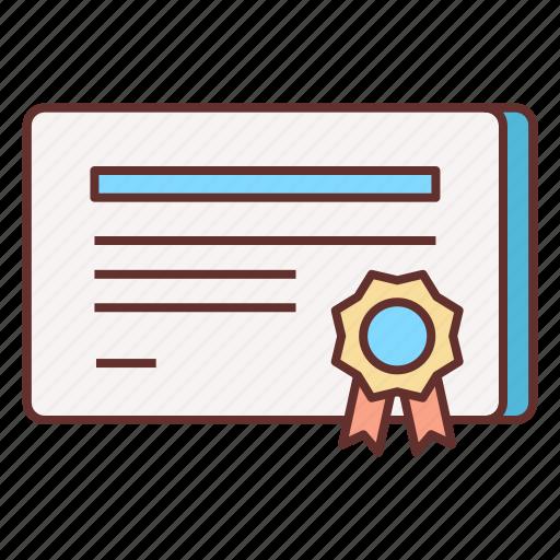 appreciation, award, certificate, reward icon