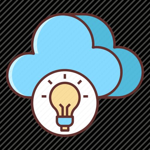 cloud, cloud architecture, cloud hosting icon