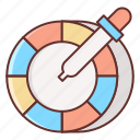 color, color picker, color wheel, wheel icon