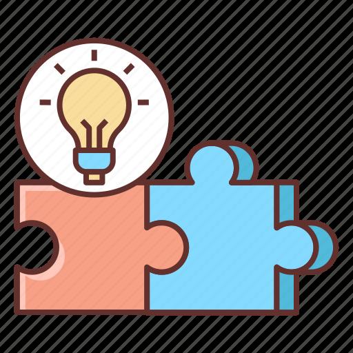 creative, puzzle, solution icon