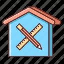 architecture, design, interior, interior design icon