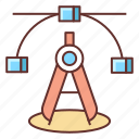 anchor point, illustration, mode, perfection, perfection mode, vector icon
