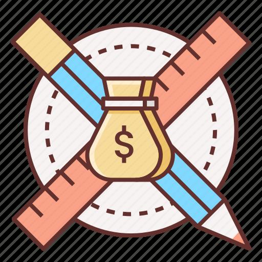 design, profit, profitable, profitable design icon
