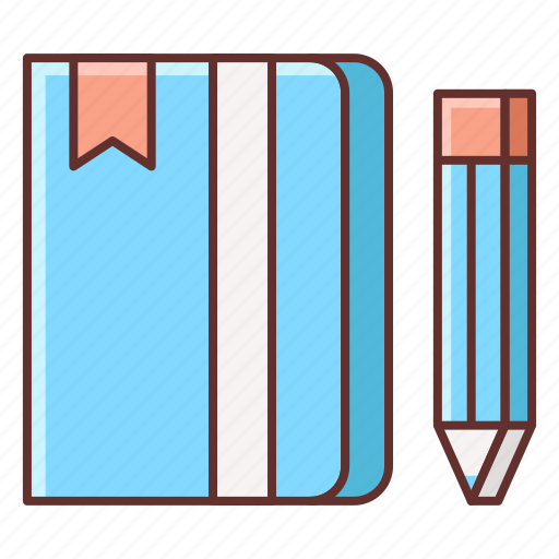 diary, journal, note, notebook, sketchbook, taking notes icon