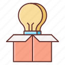 creative, creative thinking, creativity, think out of the box icon