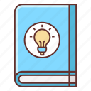 book, ideas, note, notebook, tutorial icon