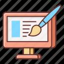 design, frontend design, frontend developer, web, web design, web development icon