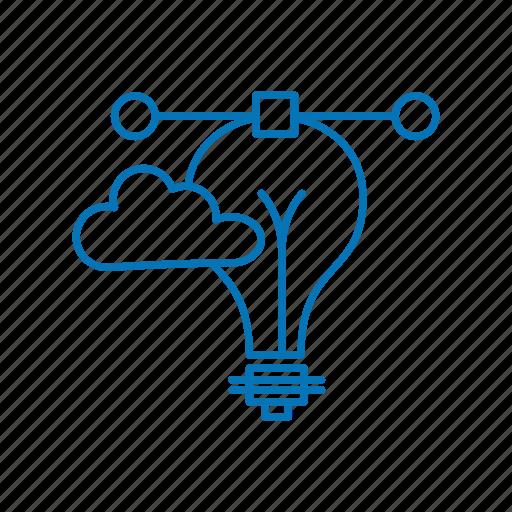 bulb, cloud, creative icon