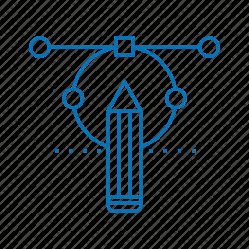 circle, creative, design, pencil icon