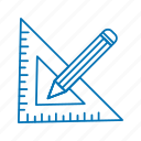 creative, geomatry, pencil icon