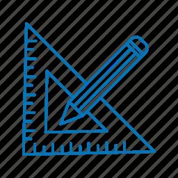 creative, geomatry, pencil icon