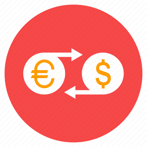 cash, currency conversion, euro to dollar, money, money transfer, payment icon
