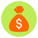 bag, bank, cash, dollar, finance, money icon