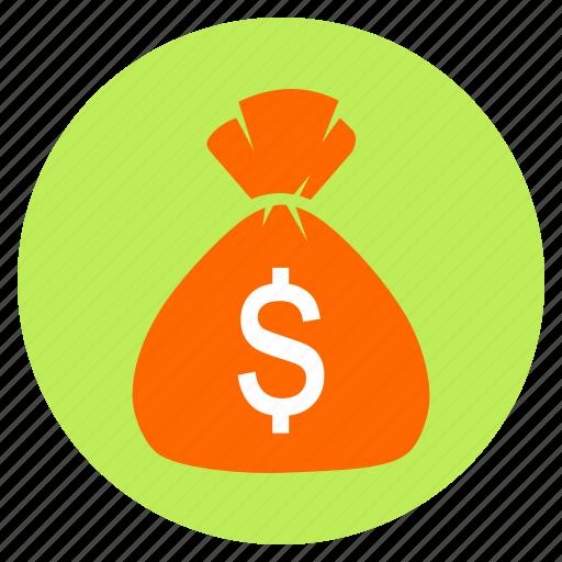 bag, bank, cash, dollar, finance, money icon