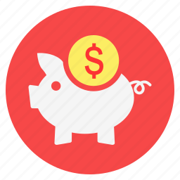 bank, dollar, finance, investment, piggy bank, savings icon