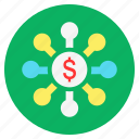 cash, dollar, finance, investment, money, returns icon