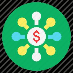cash, dollar, finance, investment, money, returns icon