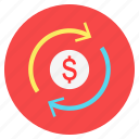 cash, cycle, dollar, financce, investment, money icon