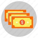 cash, currency, dollar, finance, notes icon