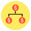 business, dollar, finance, invetment, money, tree icon